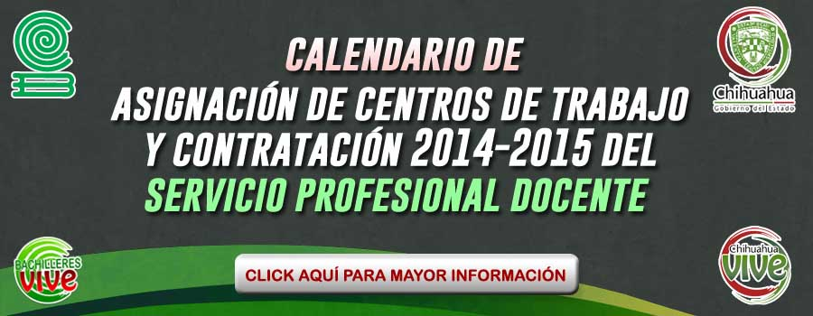 calendario centros de trabajo y contratacion